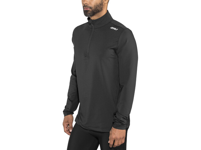 2XU XVENT 1/4 Zip Longsleeve Shirt Herren black/black